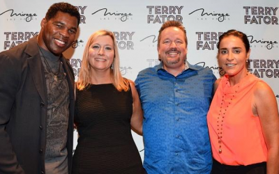 Herschel Walker Attends Terry Fator's Show at The Mirage